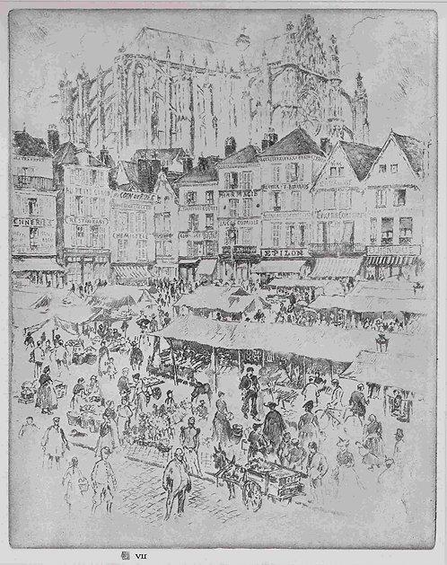 Joseph Pennell,  La Place, Beauvais