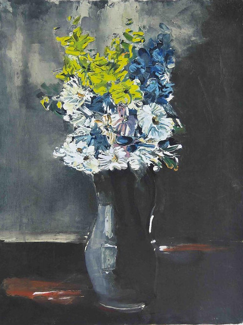 Maurice Vlaminck, Flowers in stoneware jug, Lithograph