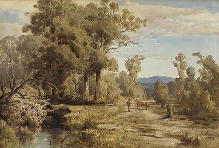 Louis Buvelot, Pastoral Scene, 1878.PNG