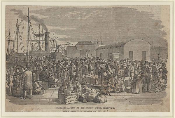 M Chevalier, Emigrants Landing at the Qu