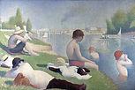 George Seurat, Bathing at Asnières, 1883-84