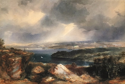 Conrad Martens, View from Neutral Bay c1857