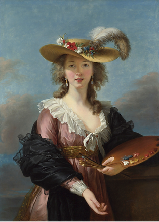 "Elisabeth Louise Vigée Le Brun, ""Self Portrait in a Straw Hat"" (after 1782)"