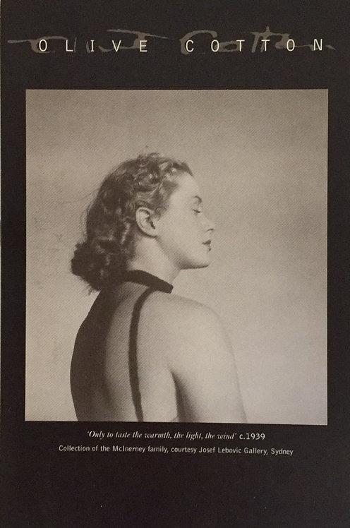 Olive Cotton, exhibition card