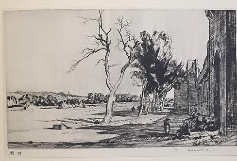 Malcolm Osborne, The City Walls, Avignon