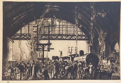 Frank Brangwyn, Cannon Street Station, Interior