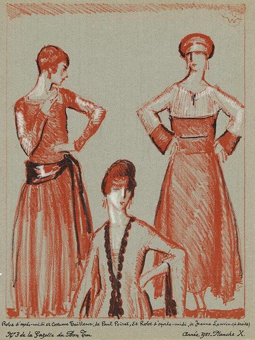Gazette Du Bon Ton 1921 No 3 Lithograph