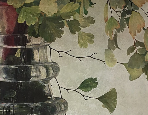 Cressida Campbell, Maiden Hair and Carafe (detail)