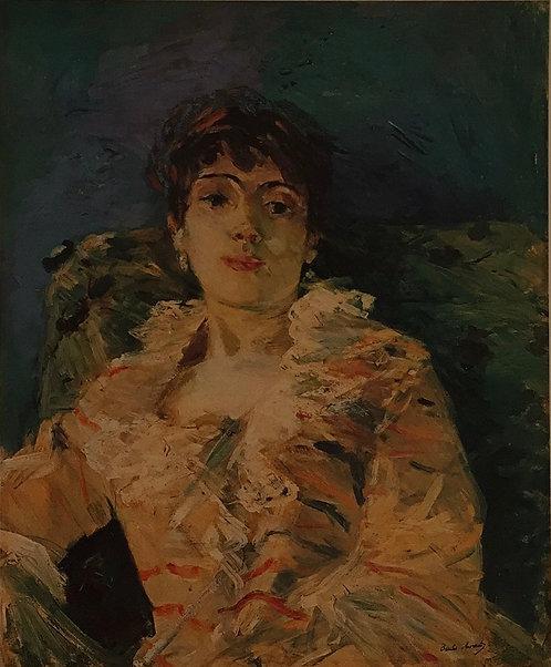 Berthe Morisot, Girl on a Divan, 1885
