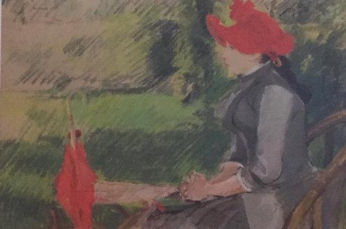 Eva Gonzales, Reading in the Garden, 1880-82
