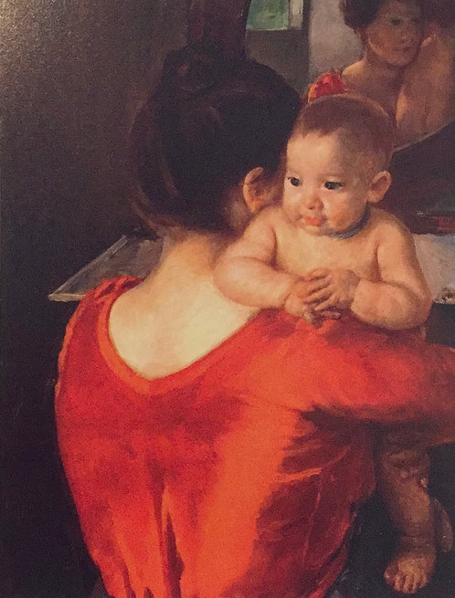 Mary Cassatt, Woman in a Red Bodice and her Child, c1901