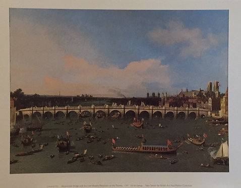 Canaletto, Westminster Bridge with the Lord Mayor's Procession on the Thames