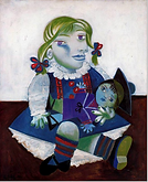 Pablo Picasso, Maya with a Doll,  1938