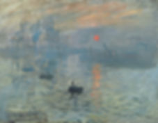 claude monet, impression sunrise, 1872