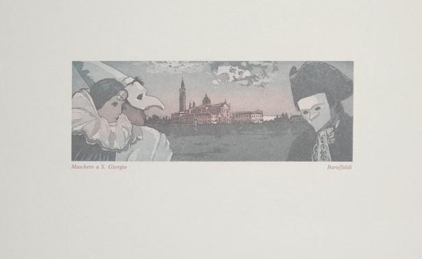 Maschere a S. Giorgio, Baruffaldi, Acquatint $50