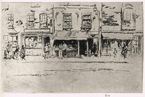 James McNeill Whistler, The Fish Shop, Busy Chelsea,