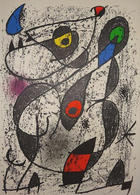 Miro, Original Lithograph, Indelible Miro 1972 Societe International D'Art XXe Siecle Paris
