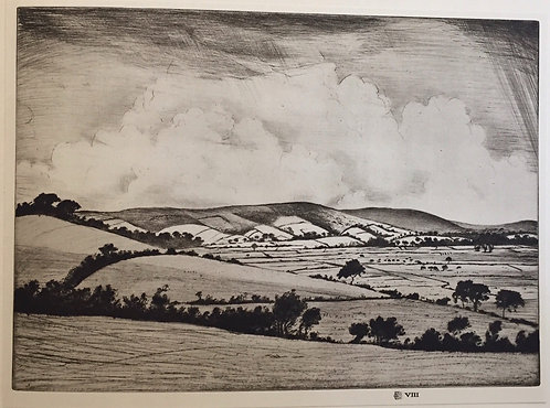 CRW Nevinson, A Valley in the South Downs