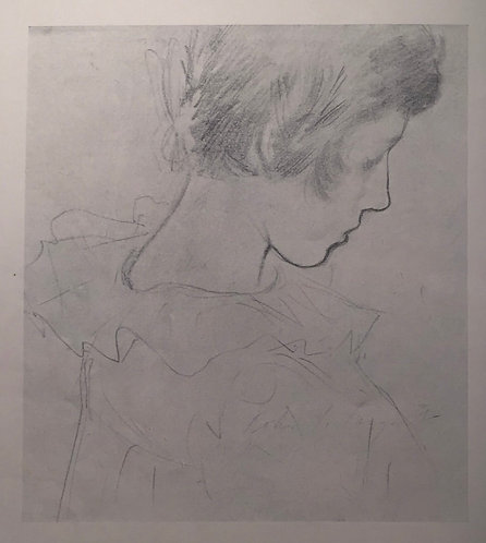 John S Sargent, Study for Lily/Study of Drapery