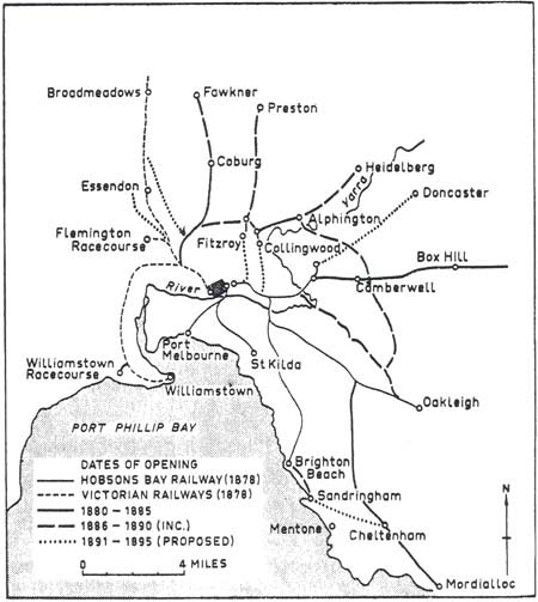 Train Line from Melbourne in the 1880s.j