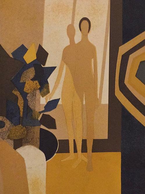 Andre Minaux, Contre Joux,  Original Lithograph