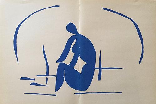Matisse -  Lithograph - Baigneuse dans Les Roseaux