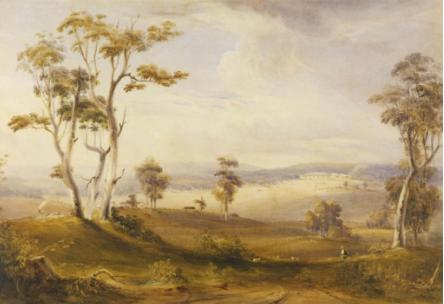 Conrad Martens, View of Throsby Park, 1836