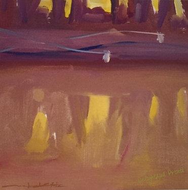 Michael White, Two Corellas at Dusk