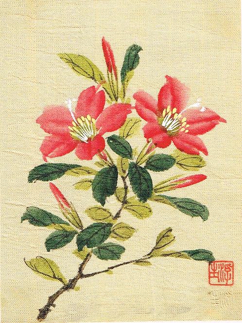 Japanese Painting on Silk 3