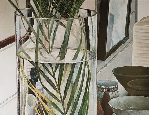 Cressida Campbell, Palm Fronds and Bowls (detail)