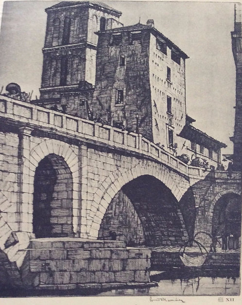 LC Rosenberg, Ponte Fabricio, Rome