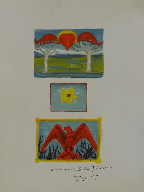 Original Lithograph Andre Derain Garden of Allah Verve No 4 1939