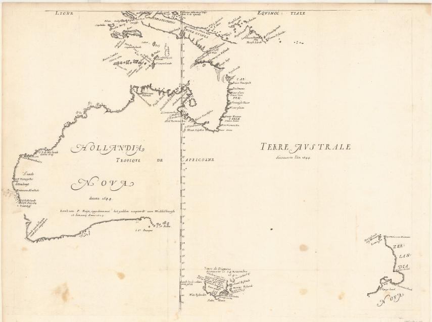 M Thevenot, Hollandia Nova detecta 1644  Terre Australe decouuerte lan 1644, Australian National Library