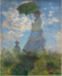 Claude Monet,  Woman with Parasol, 1875