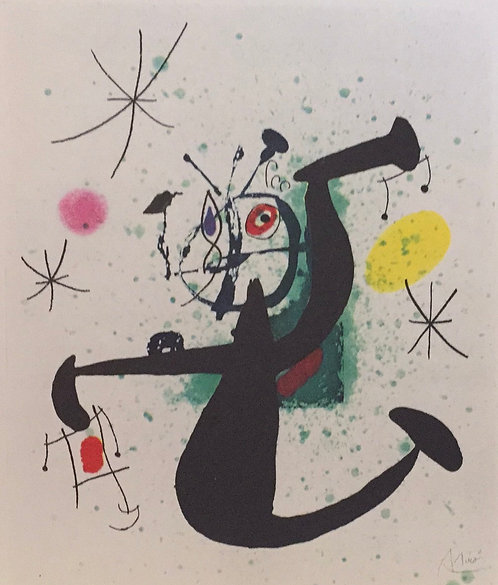 Joan Miro, Girl with a Balance