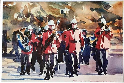 Ray Barnett, RMC Band in Reid, Canberra