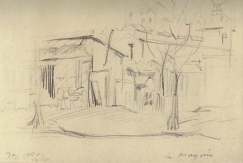 Jacques Villon, Le maquis, rue Caulaincourt