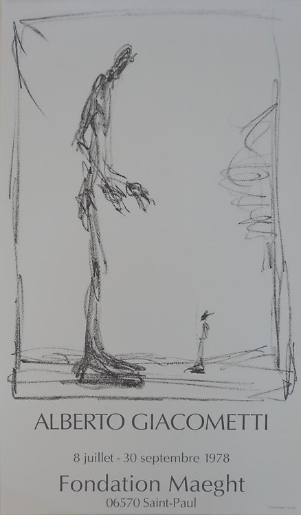Alberto Giacometti - Barcelone 1987 Poster