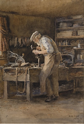 Emma Minnie Boyd, The Cobbler, 1902.PNG