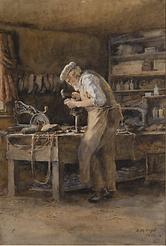 Emma Minnie Boyd, The Cobbler, 1902.PNG
