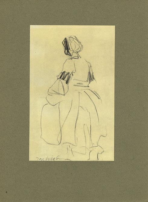 Jacques Villon, Jeune fille a la coiffe