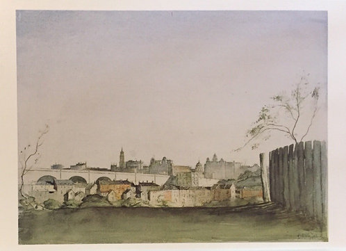 Lloyd Rees, Sydney Skyline from McMahon's Point, 1932
