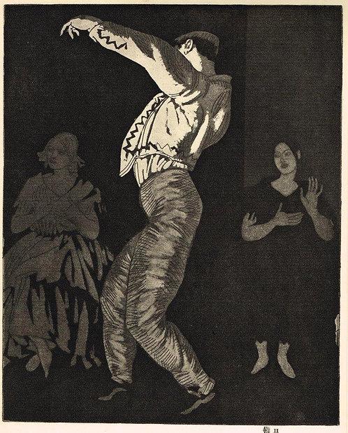 Dame Laura Knight, Spanish Dancer