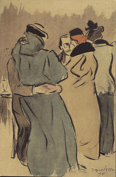 Jacques Villon, A'la terrasse