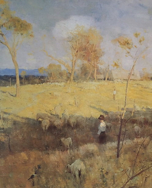 Arthur Streeton, Golden Summer, Eaglemont, (detail) 1899