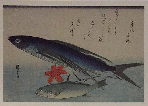 Utagawa Hiroshige, A Flying Fish and a Croaker