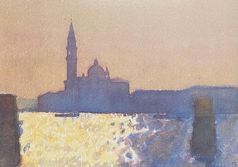 Ken Howard, San Giorgio Maggiore, Venice, Brilliant Light, 1990