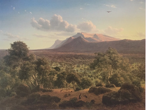 Eugene von Guerard, Mount William from Mount Dryden, Victoria, (detail) 1857