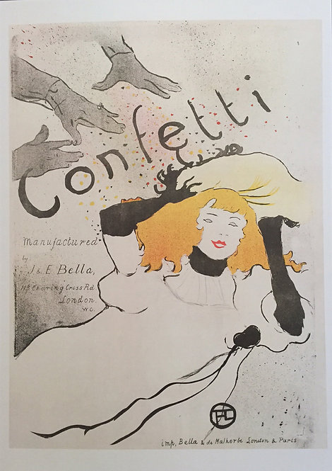 Edgar Degas poster reproduction - Confetti