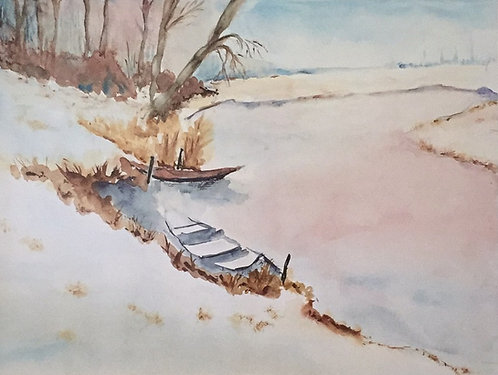 K Welzel, Winter at the Lake